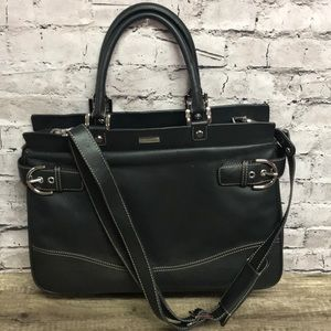 Franklin covey black leather business briefcase for sale